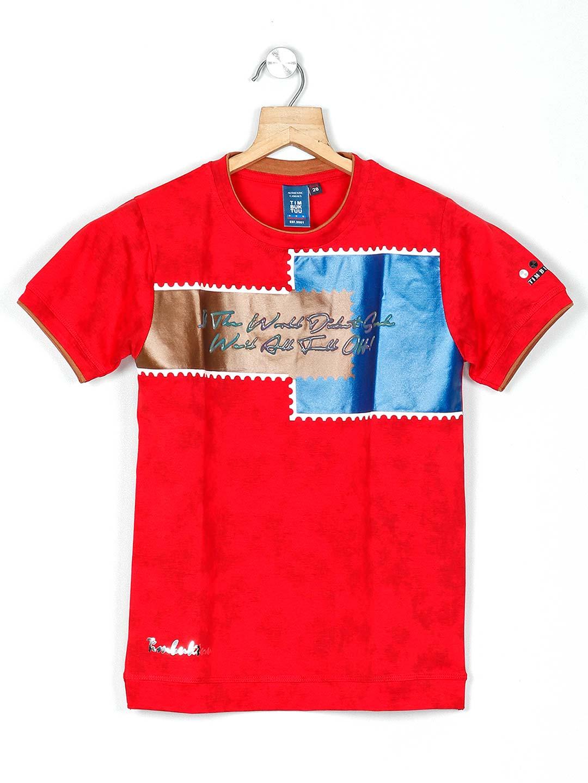 Timbuktuu printed red casual boys t-shirt?imgeng=w_400