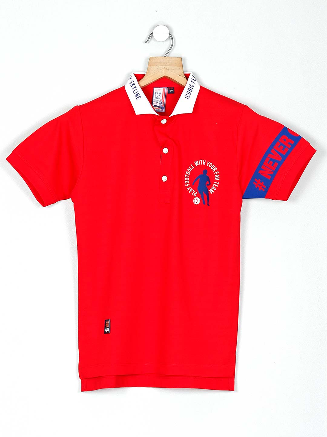 Timbuktuu solid red cotton t-shirt?imgeng=w_400