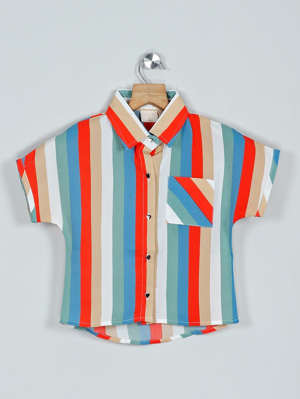 Tiny Girl orange and white stripe cotton casual top?imgeng=w_400