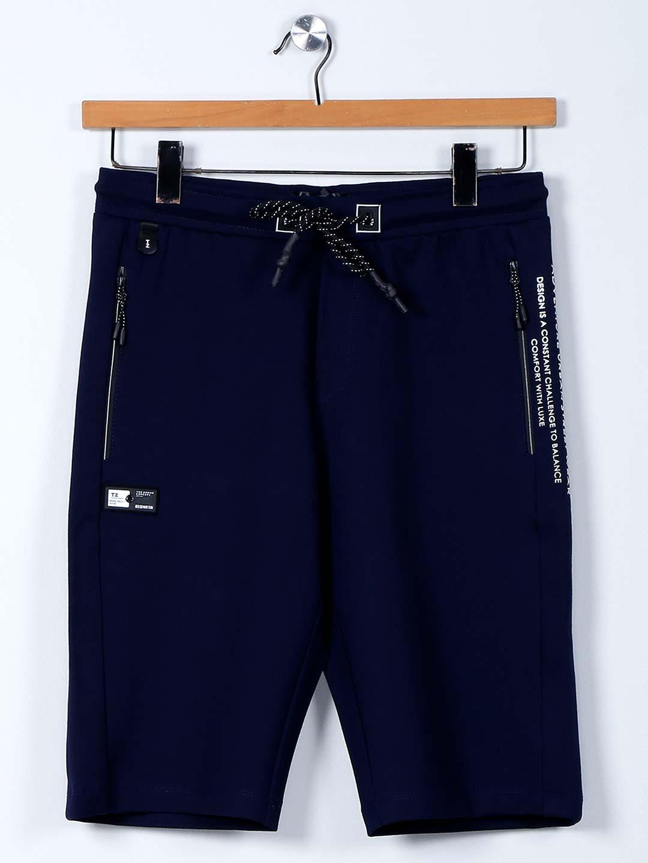 TYZ solid dark blue color cotton lycra shorts?imgeng=w_400