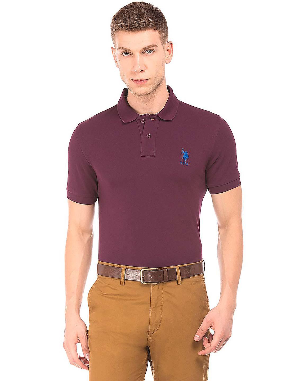 U S Polo Assn wine purple color t-shirt?imgeng=w_400
