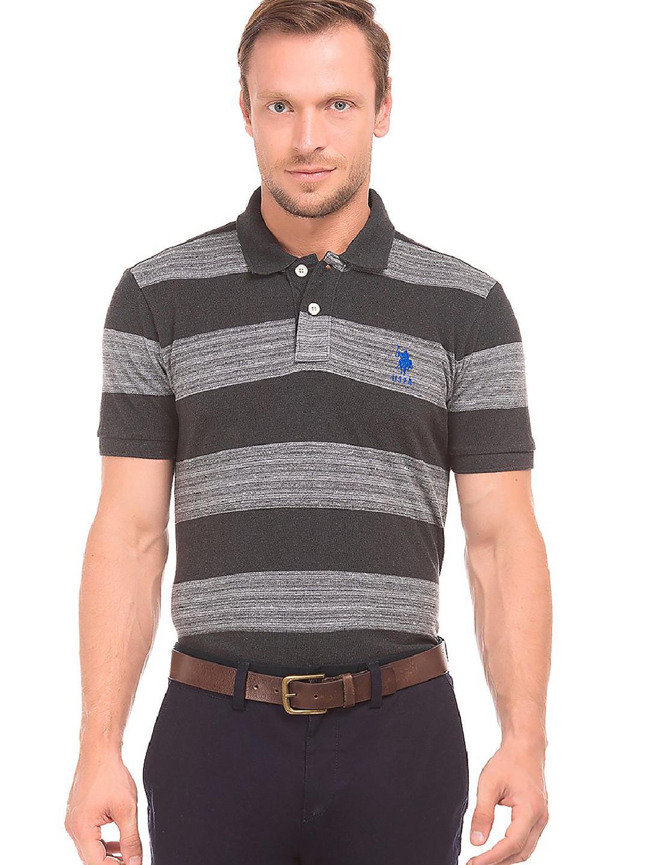 U S Polo grey and black stripe t-shirt?imgeng=w_400