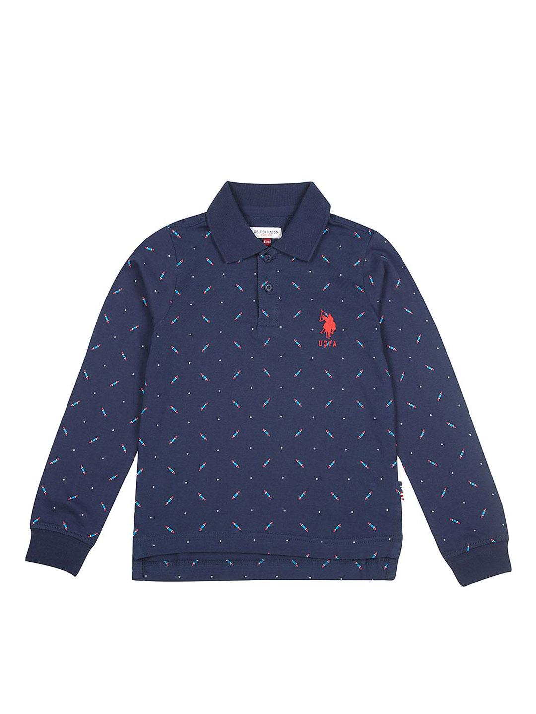 U S Polo navy printed polo neck t-shirt?imgeng=w_400