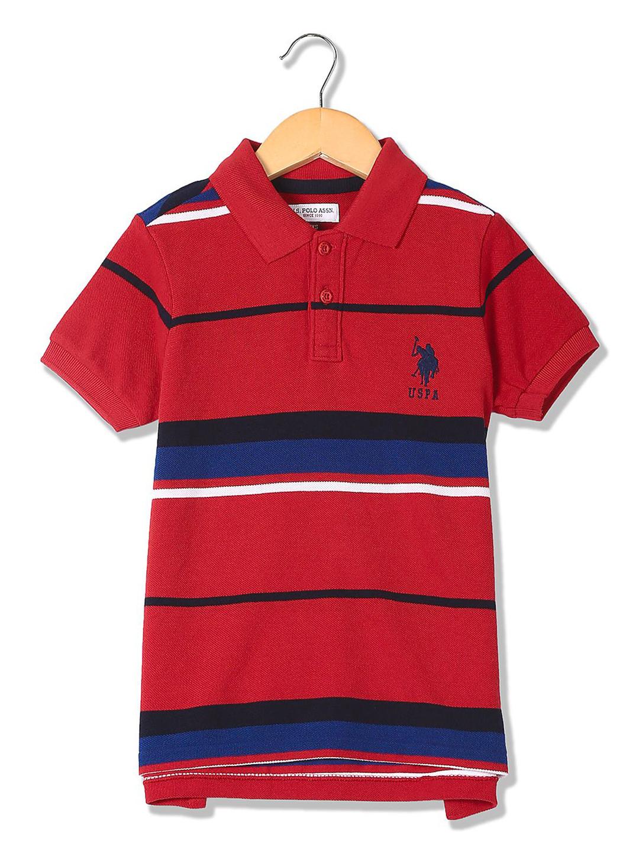 U S Polo red cotton fabric t-shirt?imgeng=w_400
