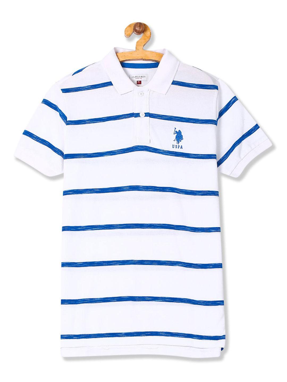 U S Polo stripe white color boys t-shirt?imgeng=w_400