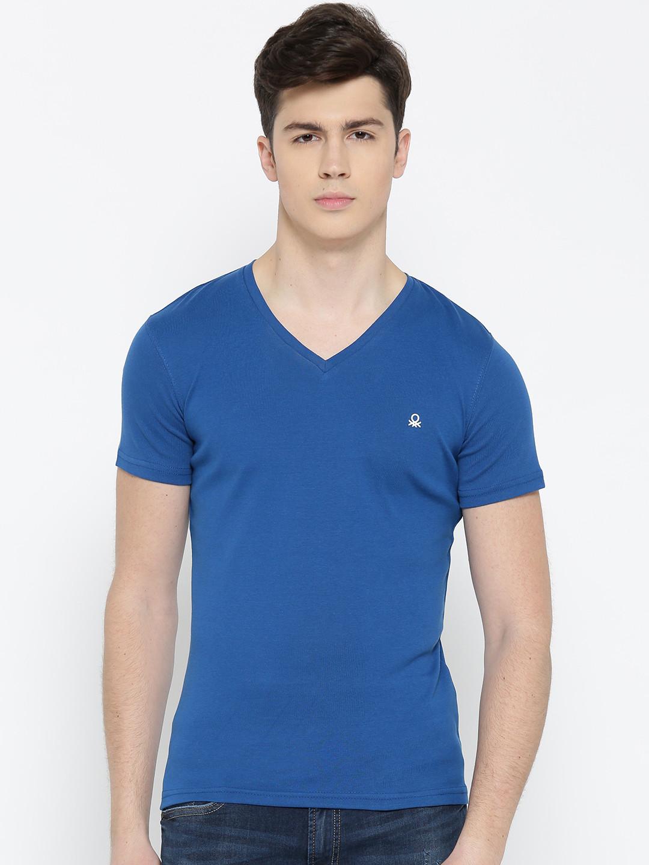 UCB blue color plain cotton t-shirt ?imgeng=w_400