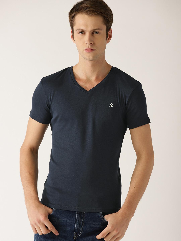 United Colors of Benetton navy plain t-shirt?imgeng=w_400