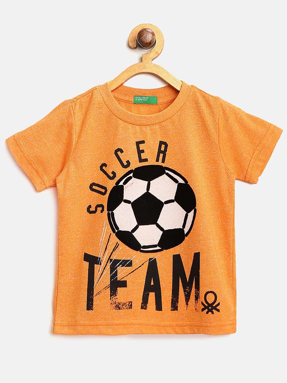 United Colors of Benetton orange casual t-shirt?imgeng=w_400