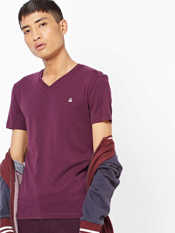 United Colors of Benetton purple cotton t-shirt?imgeng=w_400