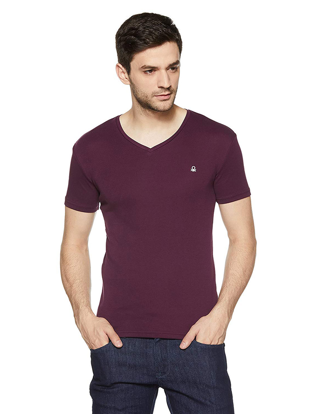 United Colors of Benetton solid purple t-shirt?imgeng=w_400