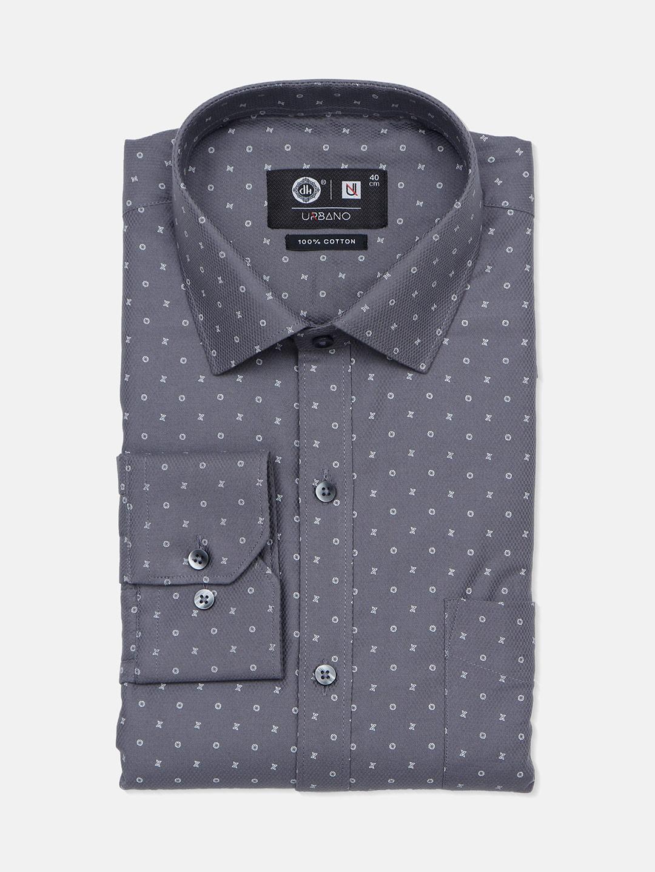 Urbano grey printed cotton mens shirt?imgeng=w_400