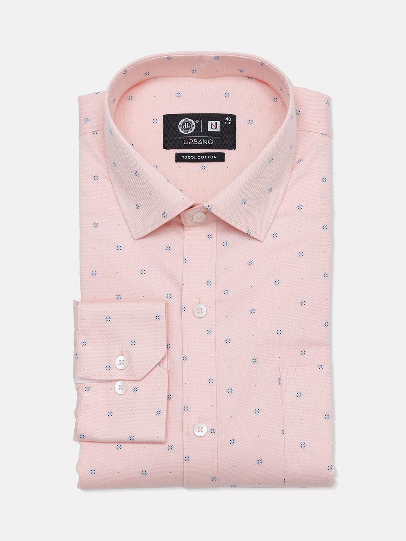Urbano pink printed cotton mens shirt?imgeng=w_400