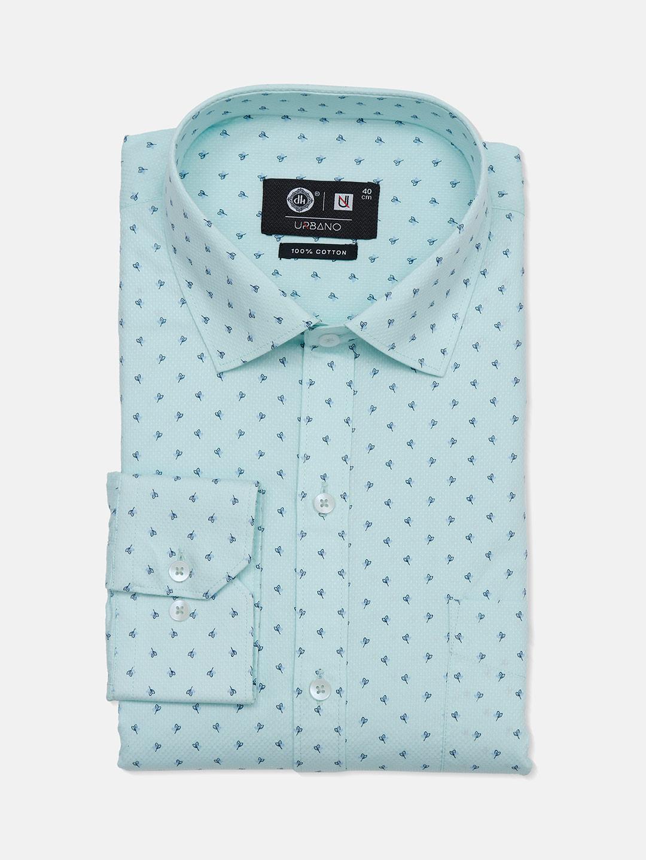 Urbano printed sea green cotton party wear mens shirt?imgeng=w_400
