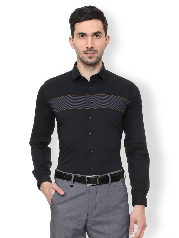 V. DOT solid black cotton shirt?imgeng=w_400