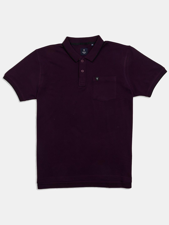 Van Heusen patch pocket solid purple t-shirt?imgeng=w_400