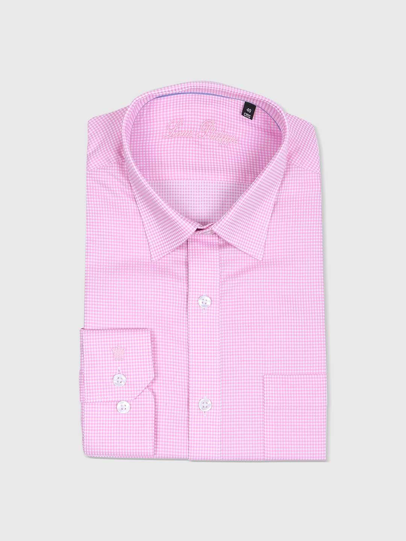 Van Heusen pink checks shirt?imgeng=w_400