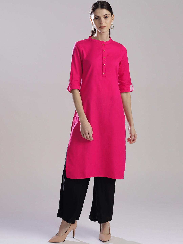 W magenta color plain kurti?imgeng=w_400