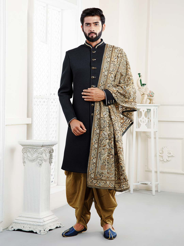 Wedding function black hue solid indo western?imgeng=w_400