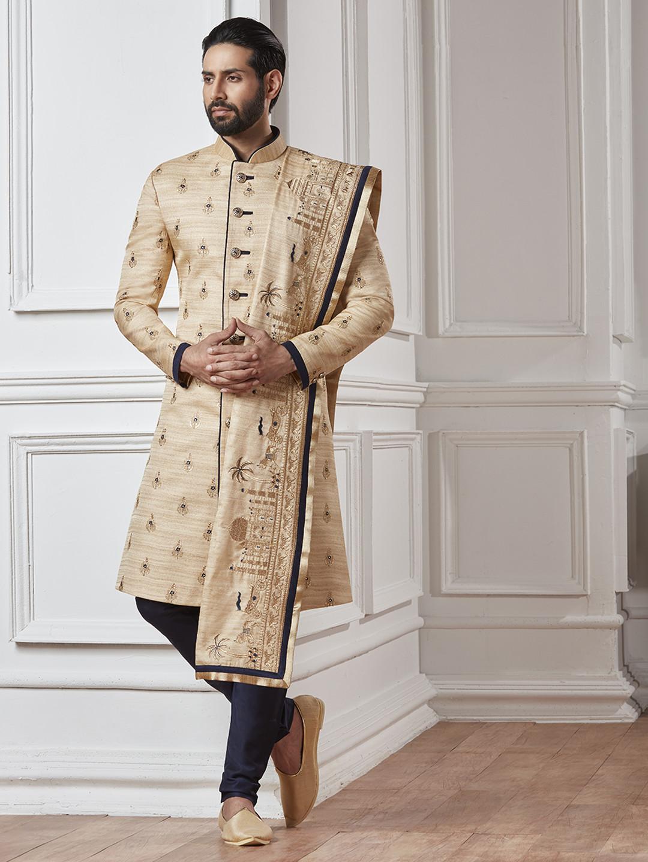Wedding sherwani in cream color?imgeng=w_400