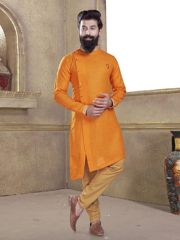 Wedding wear orange kurta suit?imgeng=w_400