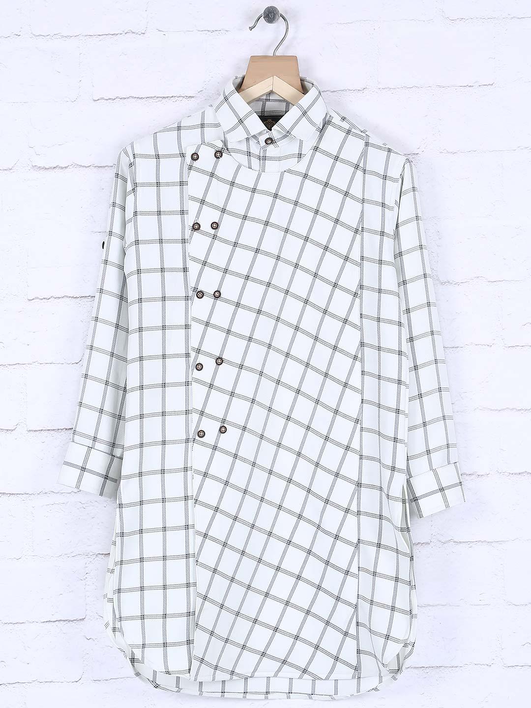 White cotton fabric checked kurta?imgeng=w_400