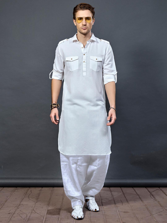 White cotton fabric pathani suit?imgeng=w_400