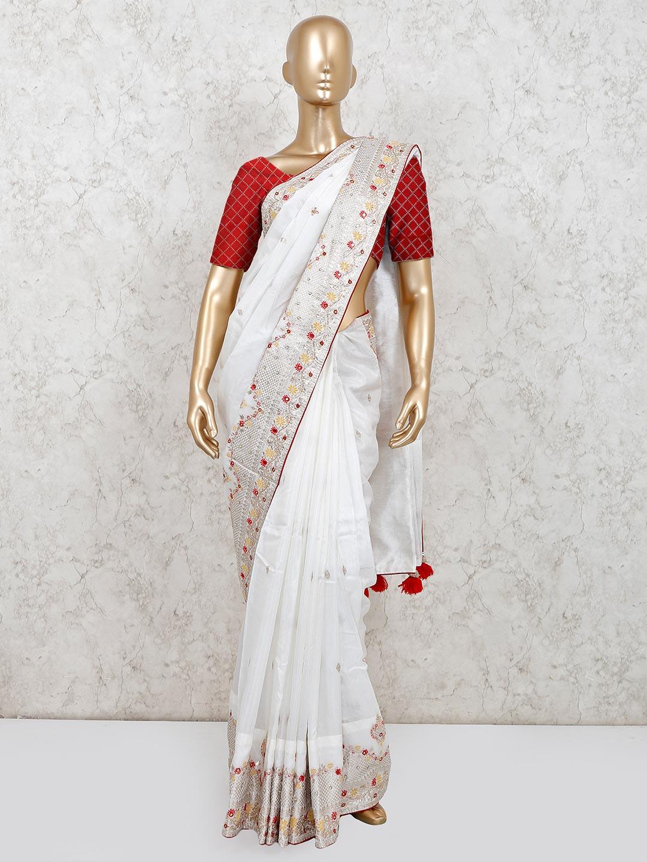 White party wear muga silk saree?imgeng=w_400