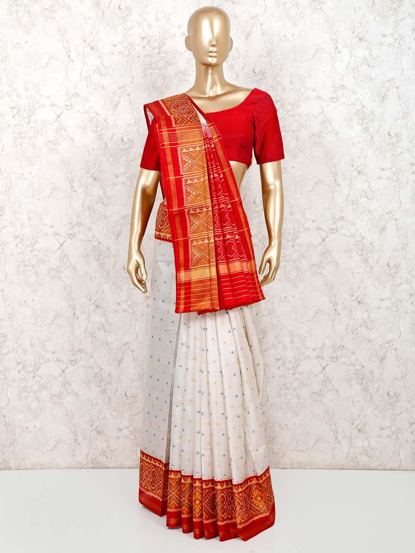 White saree in patola silk with thread,zari weaving?imgeng=w_400