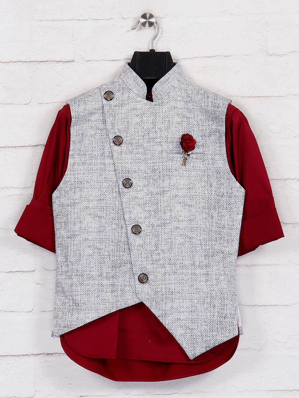 White terry rayon festtive wear waistcoat set?imgeng=w_400