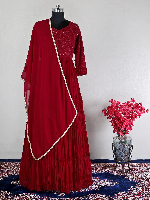 Wine georgette wedding wear anarkali suit?imgeng=w_400