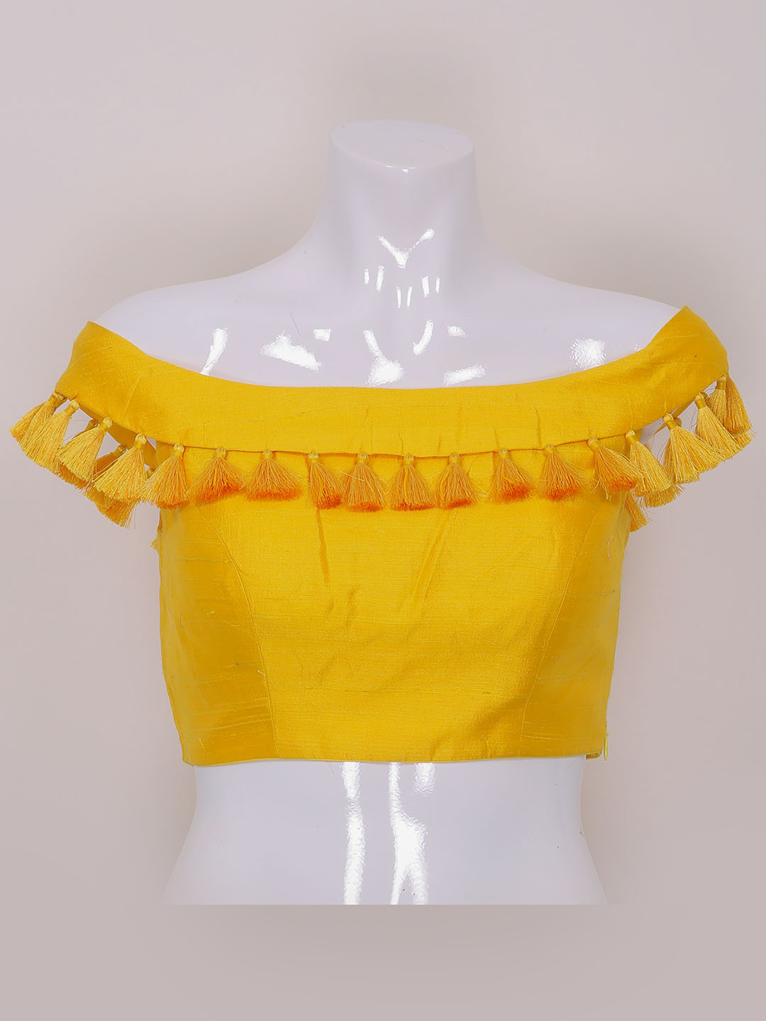 Yellow color raw silk designer ready made blouse?imgeng=w_400