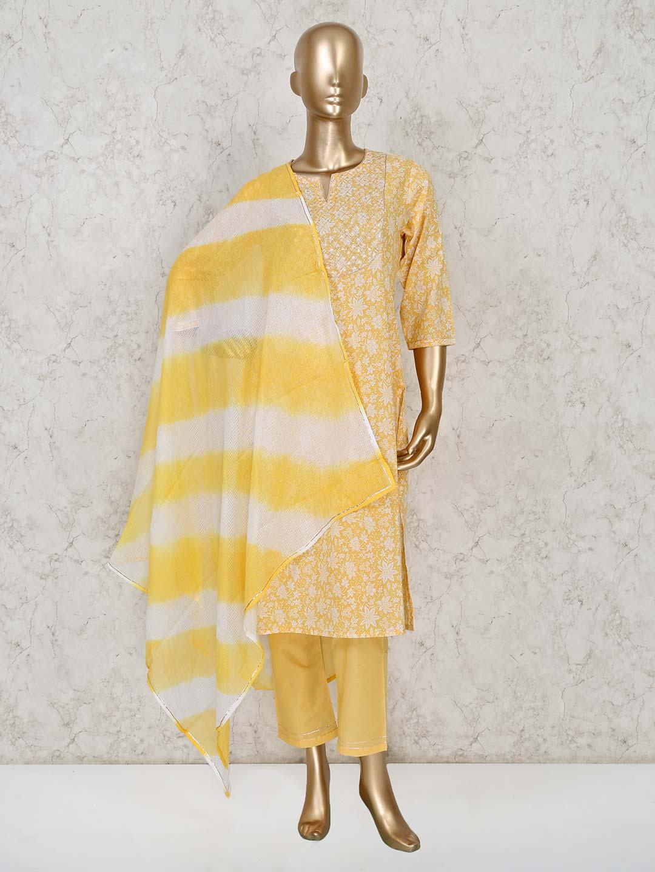 Yellow colour cotton pant suit for festival ?imgeng=w_400