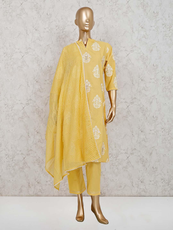 Yellow cotton festive pant style suit ?imgeng=w_400