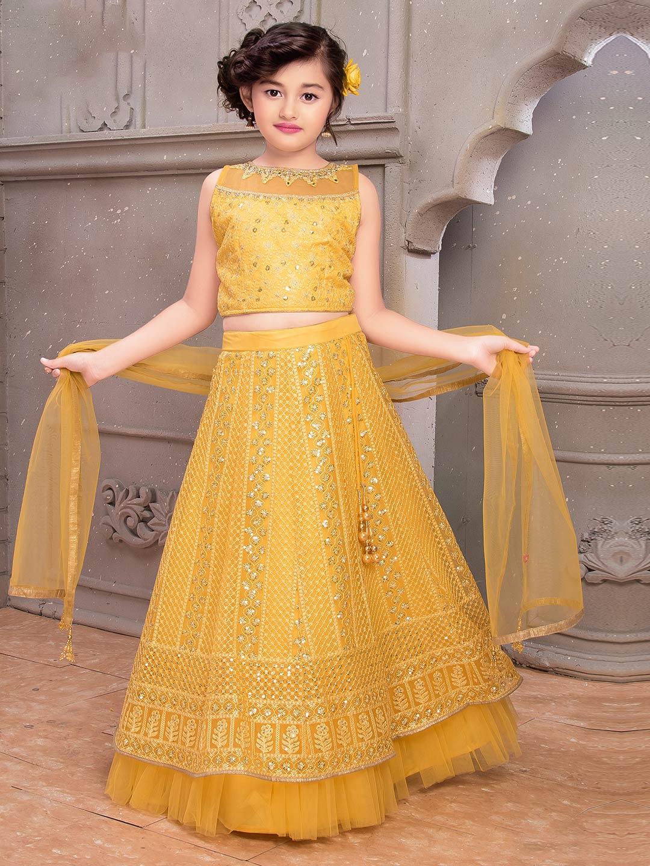 Yellow georgette designer lehenga choli for wedding?imgeng=w_400