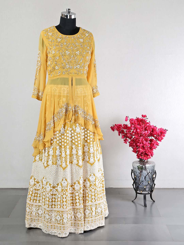 Yellow reception wear lehenga choli for women?imgeng=w_400