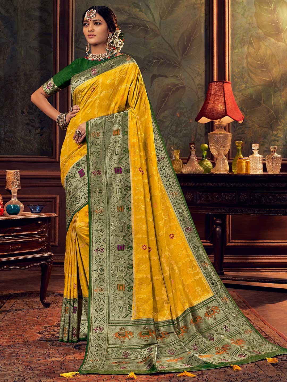Yellow silk saree for wedding function?imgeng=w_400