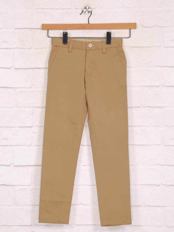 Zillian solid khaki trouser in cotton?imgeng=w_400