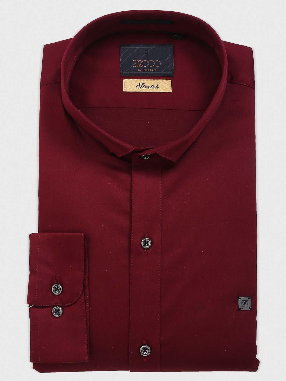 Zillian wine simple cotton shirt?imgeng=w_400