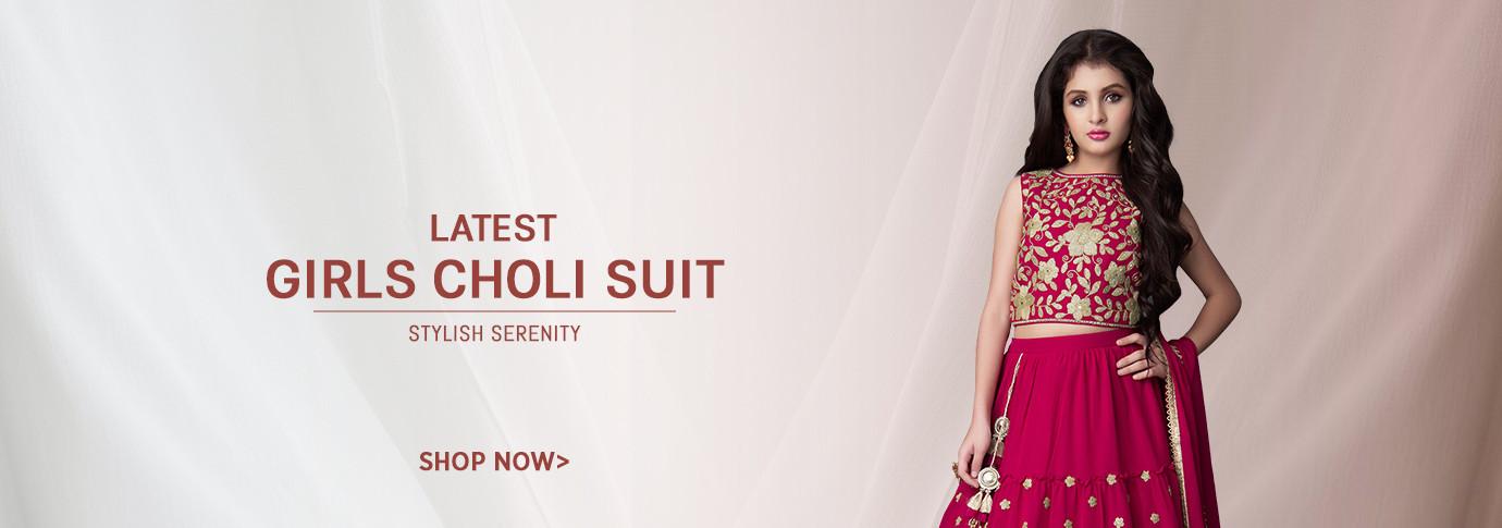 Girls Choli Suit