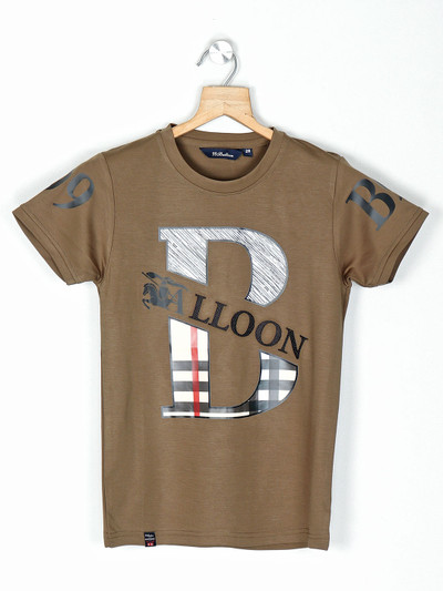99 Balloon olive printed cotton t-shirt