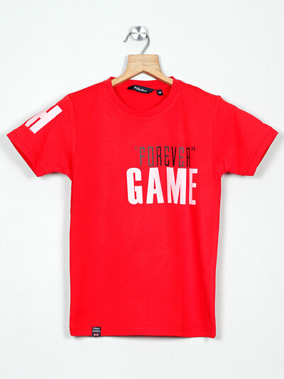 99 Balloon printed red cotton t-shirt