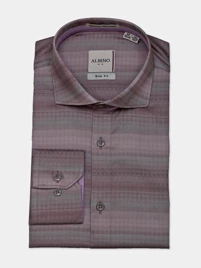 Albino onion pink cotton stripe shirt