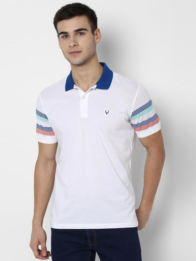 Allen Solly mens white solid t-shirt