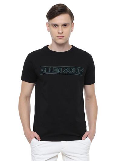 Allen Solly printed black t-shirt