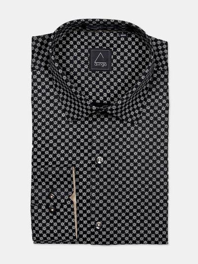 Avega black printed cotton shirt