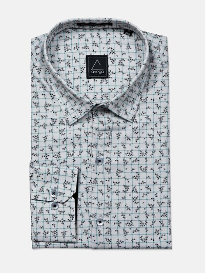 Avega white color printed cotton shirt