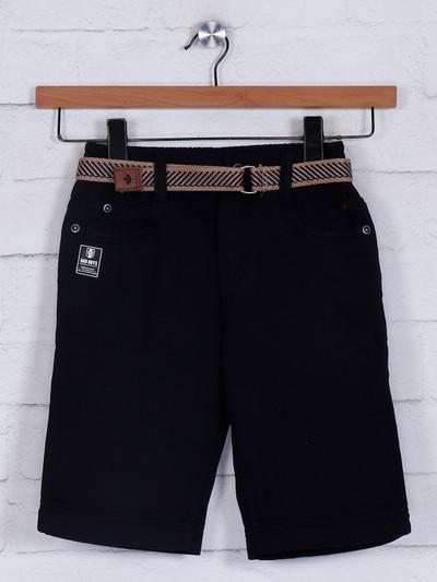 Bad Boys black slim fit cotton casual short