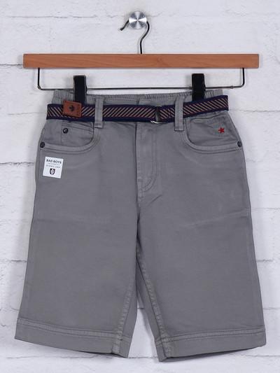 Bad Boys solid grey cotton short