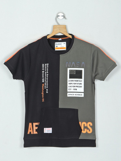 Bambini black printed t-shirt