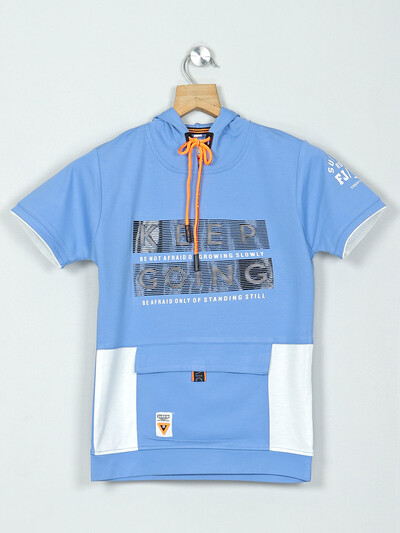 Bambini blue cotton t-shirt for boys